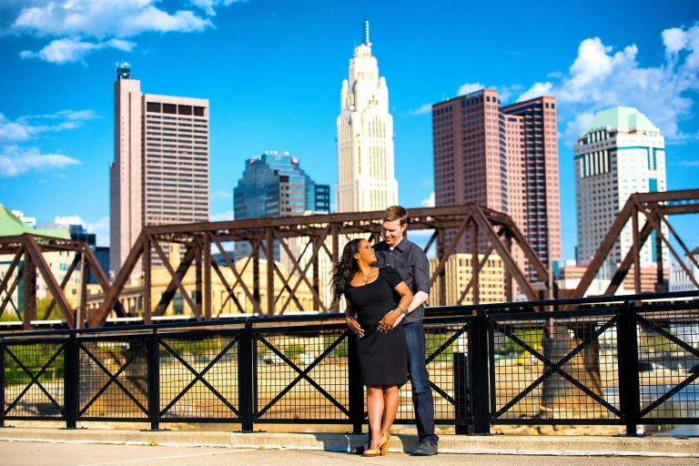 downtown-columbus-engagement-photoshoot